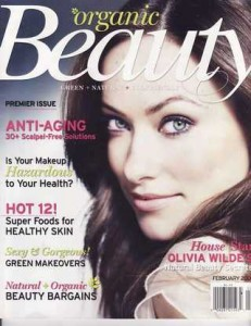 Organic Beauty magazine, Feb. 2009