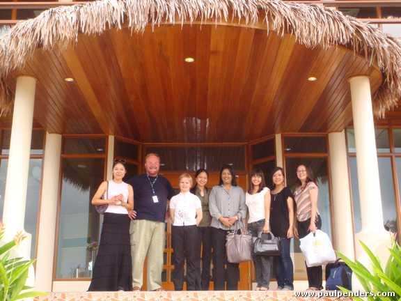 From left: Mrs. Rulli, Paul Penders, Angelika Hartung, Mylen, Bawani Maruthapillai, Khay, Angeline, and Hong