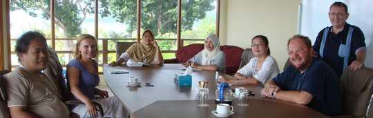 Mariek Wilms meets the Paul Penders staff in Langkawi headquarters
