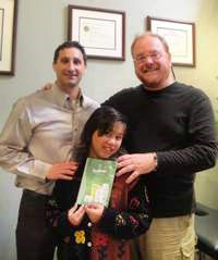 Dr. Beck, my granddaughter Ayana and me