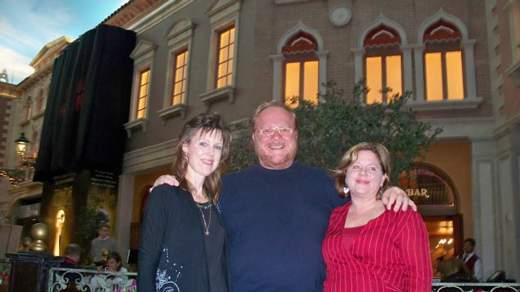 Marj, Paul & Deanna in front of restaurant The Venetian in Las Vegas
