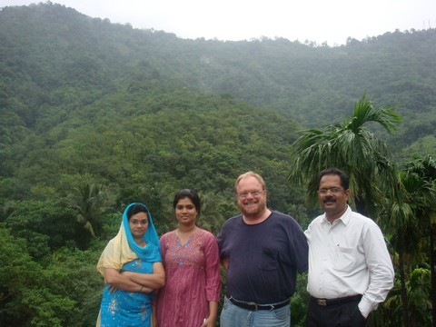 Joji and I with some women of Vanamoolika
